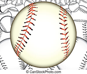 a lot of baseballs - ball baseball baseballs against the...