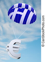 Greece parachute - Parachute with the Greek flag on it...