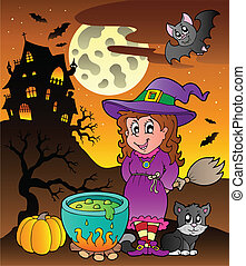 Scene with Halloween theme 3