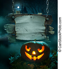 Halloween background design - Halloween design, glowing...