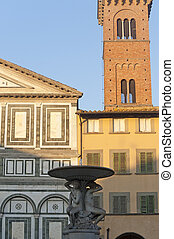 Empoli Florence, church and fountain - Empoli Florence,...