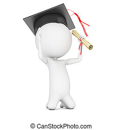 education - school is out - 3d rendered illustration of a...
