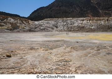 Stefanos volcano crater, Nisyros