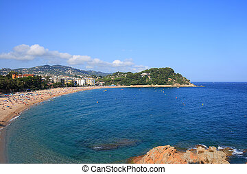 Fenals beach (Costa Brava, Spain) - Fenals beach at Lloret...