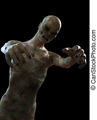 scary zombie - 3d rendered illustration of a scary zombie