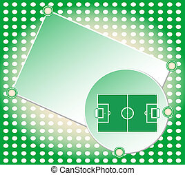 soccer football field greeting card