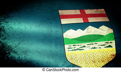Alberta Flag Waving, grunge look