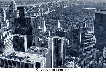 Midtown Manhattan Cityscape - Monochrome midtown Manhattan...
