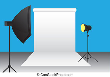 photography studio - blue,black,white,yellow,gray...