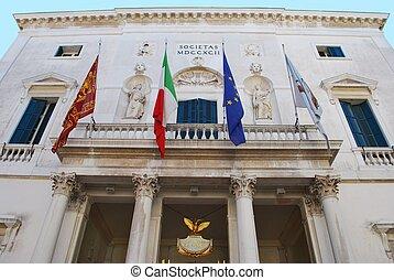 Theater in Venice - La Fenice theater facade in Venice,...