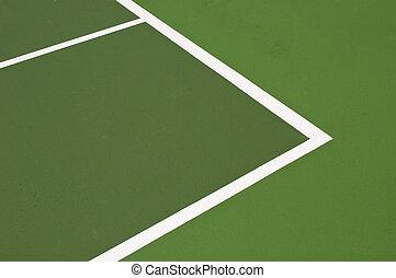 Tennis court - green modern hardcourt tennis as a background...