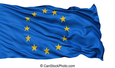 Realistic EU flag in the wind - Realistic 3d seamless...