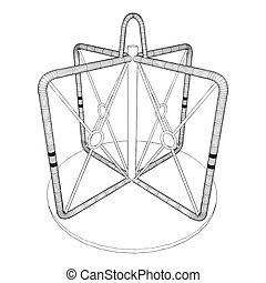 Carousel For Children Vector