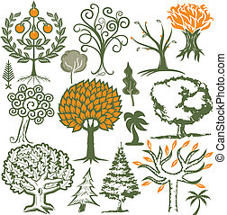 Tree Collection - Collection of tree themed symbols and...