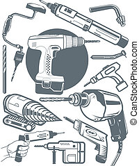 Drill Collection - Collection of drill themed symbols and...