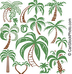 Palm Tree Collection - Collection of palm tree themed...