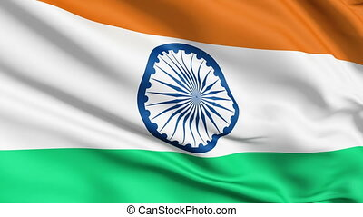 Realistic India flag in the wind - Realistic 3d seamless...