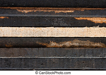 Close up of wooden slab Texture