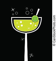 Margarita - Cute fancy alcohol margarita glass