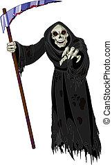Halloween Grim Reaper - Halloween horrible Grim Reaper