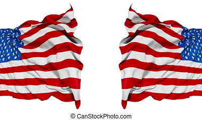 Realistic USA flag in the wind - Realistic 3d seamless...