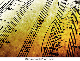 music - old sheet music