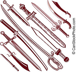 Sword Collection - Collection of sword themed icons and clip...