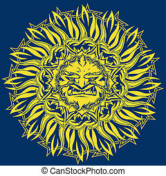 Angry Sun - A hot, mean and villainous looking sun