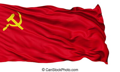 Realistic USSR flag in the wind - Realistic 3D detailed slow...
