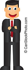 businessman cartoon isolated over white background vector