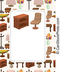cute cartoon furniture card