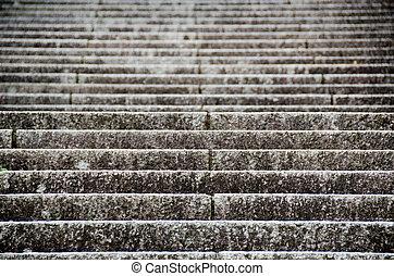 modèle, escalier, fond