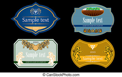 Wine Labels Design Template