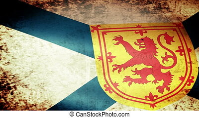 Nova Scotia Flag Waving, grunge look