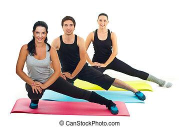 sano, grupo, gente, condición física,...