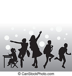 silhouettes people collection - to be used for eduction,...