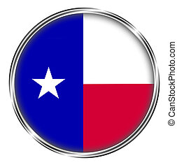 Button badge of texas