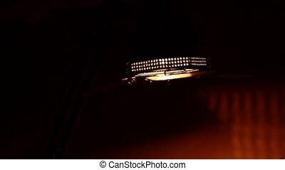video light in studio