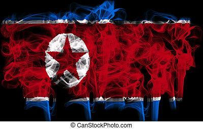 smoking flag of north korea