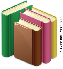 Library. Group of books. Vector illustration