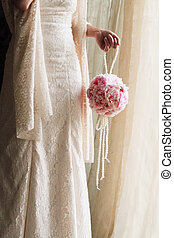 bride with a wedding bouquet - beauty Bride with a wedding...
