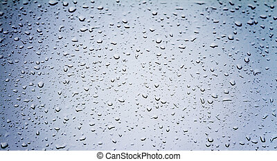 drops of water on glass - background of beautiful water...