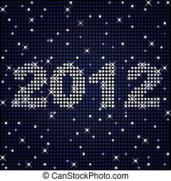 2012 in sparkles - New Years or graduation sign for 2012 in...