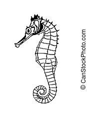 Dragon fish - Illustration of a dragon fish