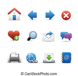 Web and Internet Icon Set - Vector icons for your website or...