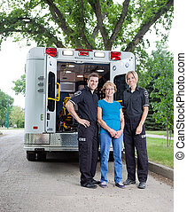 Ambulance Staff with Patient