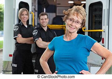 Happy Ambulance Patient