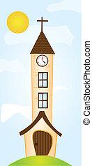 cartoon church