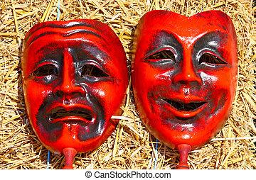 dos, máscaras