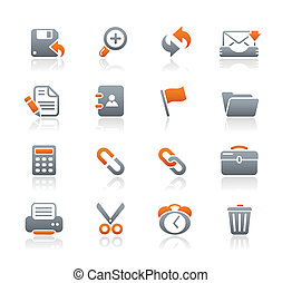 Interface Web Icons Graphite - Vector icons for your website...